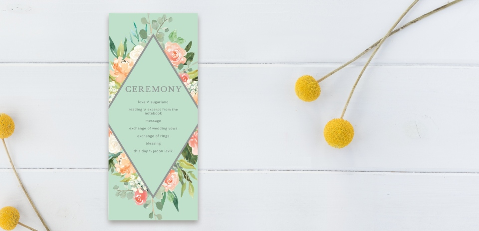 Wedding Program Back