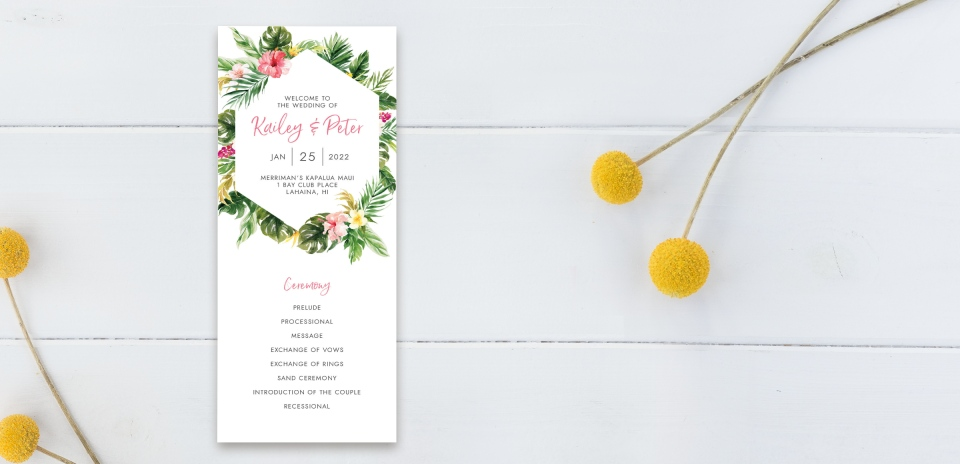 Wedding Program Front