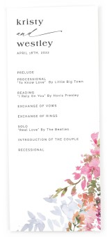 Blushing Bouquet Tea-length Programs