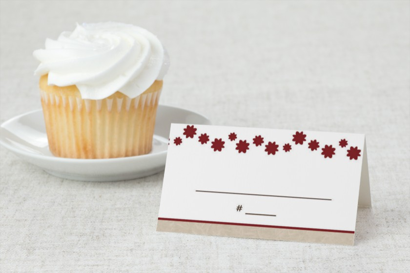 Military Themed - Army Dress Blues Wedding Place Cards