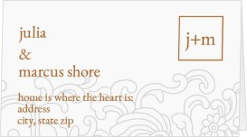 Pristine Beauty Wedding Place Cards