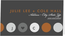 Circle of Love Wedding Place Cards