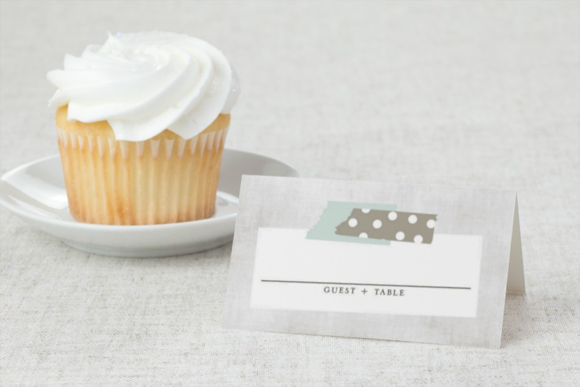 Vintage Bunting Wedding Place Cards