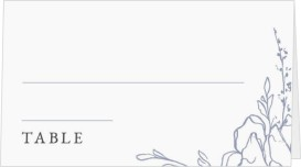 Blooming Rose Wedding Place Cards