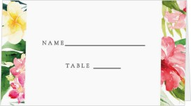 Paradise of Love Wedding Place Cards