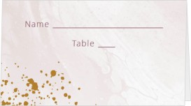 Tender Mist Wedding Place Cards