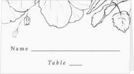 Hibiscus Hideaway Wedding Place Cards