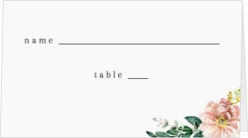 Delicate Florals Wedding Place Cards