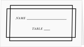 Because You're Mine Wedding Place Cards