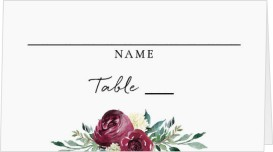 Floral Touch Wedding Place Cards