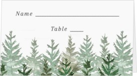 Ethereal Evergreens Wedding Place Cards