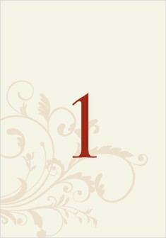 Classic Allure Wedding Table Numbers