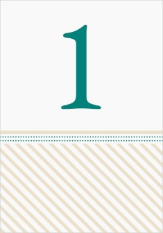 Decorative Spring Wedding Table Numbers