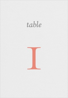 For You With Love Wedding Table Numbers