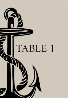 Love's Anchor Wedding Table Numbers