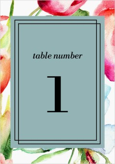 Floral Watercolor Wedding Table Numbers