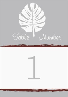 Palms in Paradise Wedding Table Numbers
