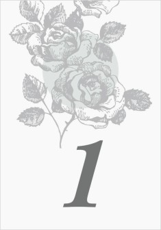 Bed of Roses Wedding Table Numbers
