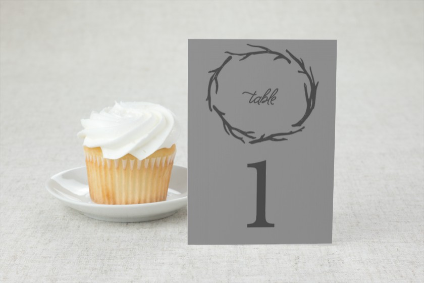 Rustic Boughs Wedding Table Numbers