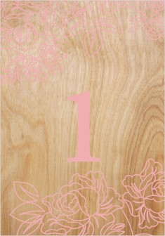 Rustic Woodgrain Wedding Table Numbers