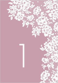 Modern Lace Wedding Table Numbers