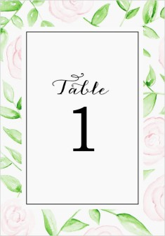 Painterly Bouquet Wedding Table Numbers