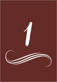 Beyond the Shore Wedding Table Numbers