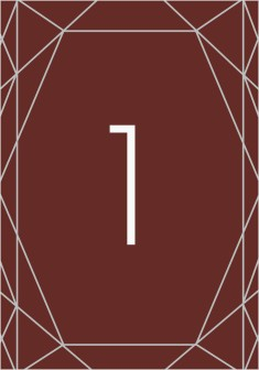 Luxe Gem Wedding Table Numbers