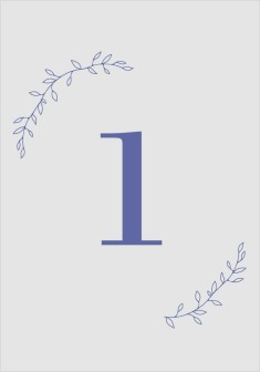 Naturally Leaves Wedding Table Numbers