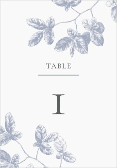 Leafy Elegance Wedding Table Numbers