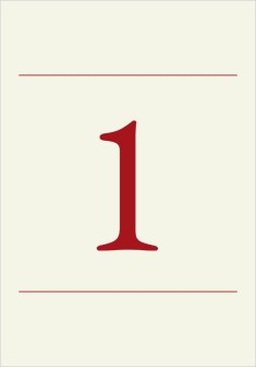 Classic Devotion Wedding Table Numbers
