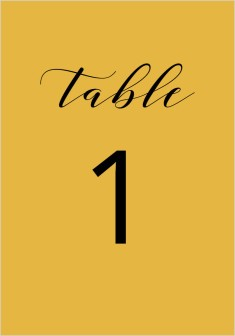 Timeless Eloquence Wedding Table Numbers