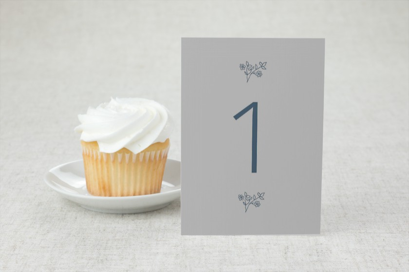 Cool Blooms Wedding Table Numbers