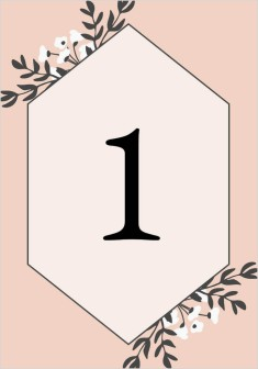 Floral Bliss Wedding Table Numbers