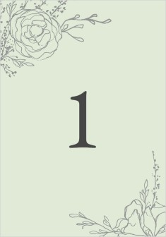 Blooming Rose Wedding Table Numbers