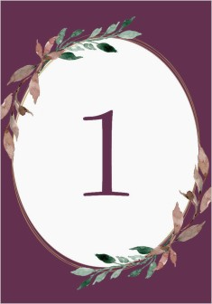Eternal Autumn Wedding Table Numbers