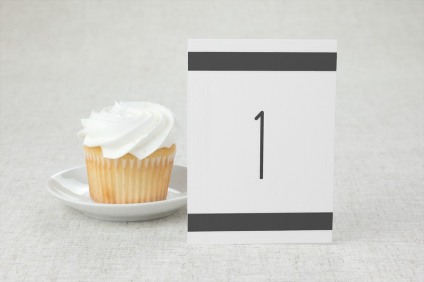 Nautical Stripes Wedding Table Numbers