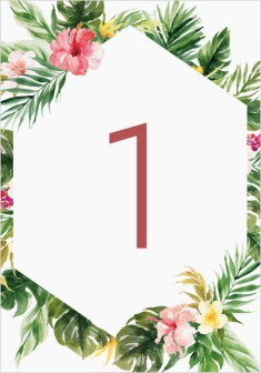 Perfect Paradise Wedding Table Numbers