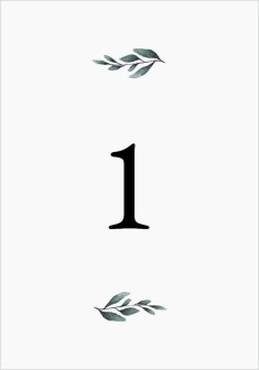Pinecone Allure Wedding Table Numbers