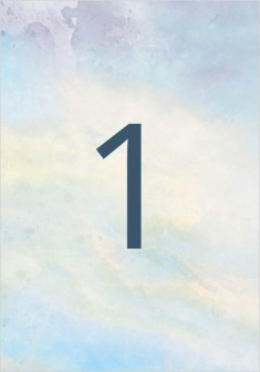 Dreamy Sky Wedding Table Numbers