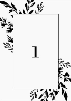 Stacked Squares Wedding Table Numbers