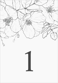 Hibiscus Hideaway Wedding Table Numbers