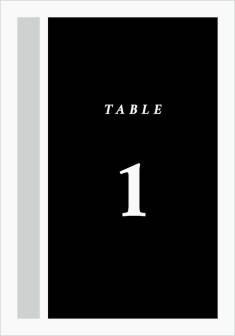 Framed Boxes Wedding Table Numbers