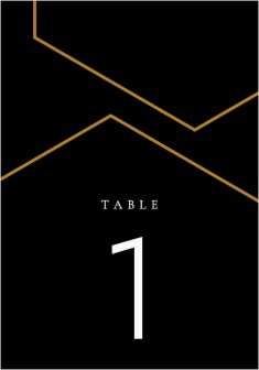 Love's Ribbon Wedding Table Numbers