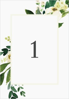 Wedding Florals Wedding Table Numbers
