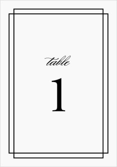 Because You're Mine Wedding Table Numbers