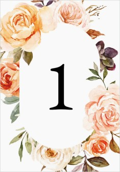 Romantic Garden Wedding Table Numbers