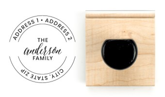 Family Surname Rubber Stamps