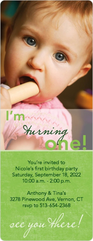 I'm Turning One Birthday Party Invitations