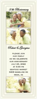 Layered Photo Frames Anniversary Invitation Magnets